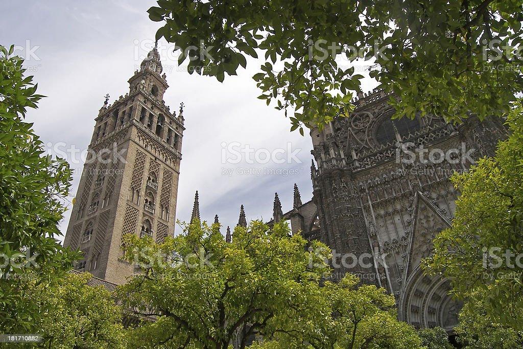 Cathedral La Giralda at Seville Spain royalty-free stock photo