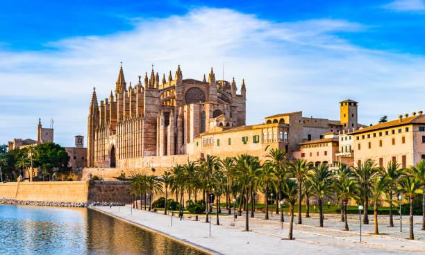 Cathédrale de La Seu et Parc del Mar à Palma de Majorque Espagne - Photo