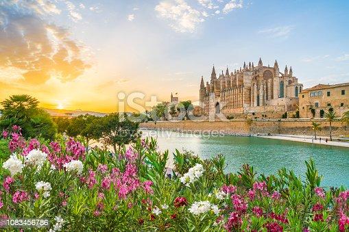istock Cathedral La Seu at sunet time, Palma de Mallorca islands, Spain 1083456786