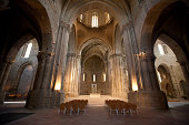 La Seu Vella Cathedral Interior. The Cathedral of La Seu Vella of Lleida is the oldest cathedral in Lleida (Construction started in the year 1203) , Catalonia, and it is ithe most outstanding monument in the city of Lleida - Lerida. Lleida - Lerida, Spain.