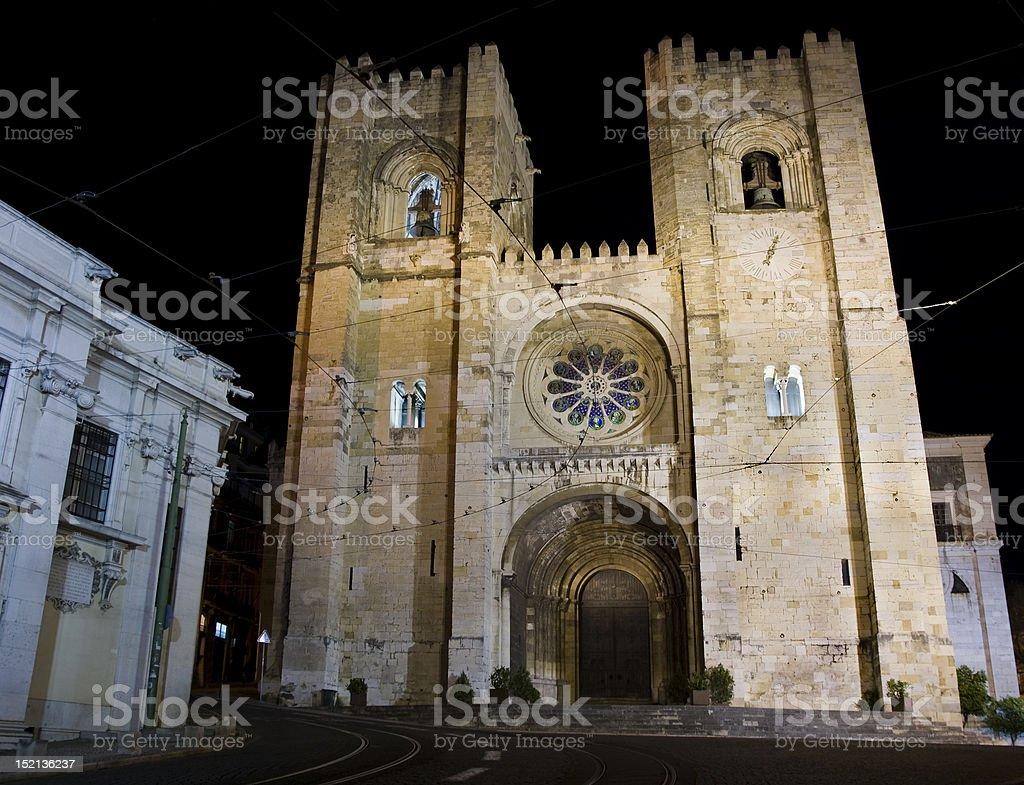 Sé Cathedral, Lisbon stock photo