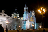 Cathedral Madrid night