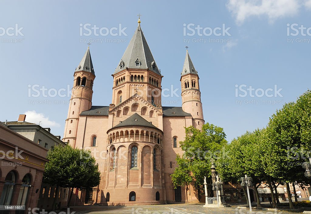 Cathedral Mainz stock photo