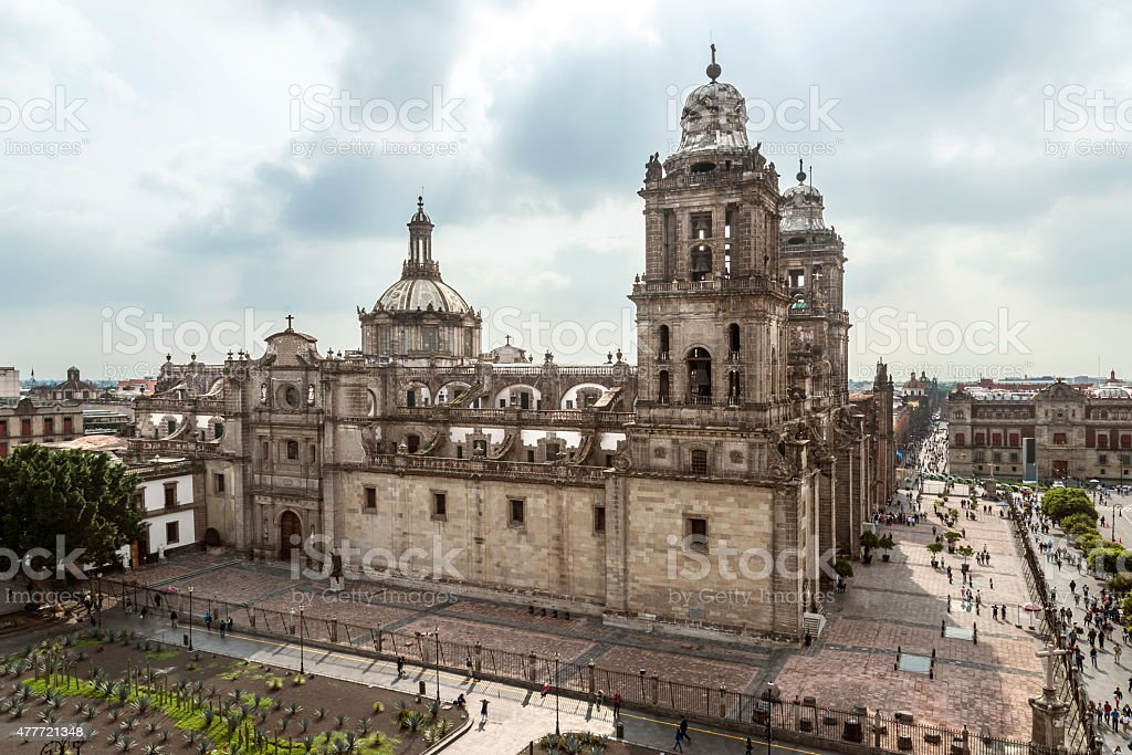 Cathedral Metropolitana Mexico City, Mexico stock photo