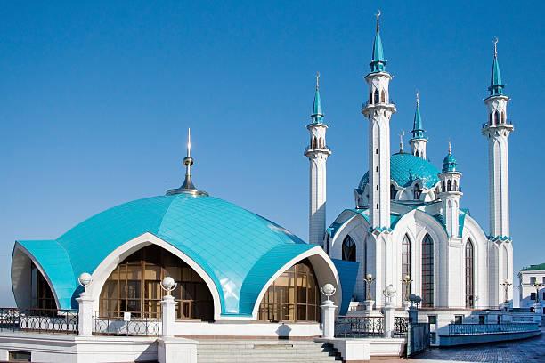 kathedrale moschee in den kasaner kreml. kul sharif - aurum stock-fotos und bilder