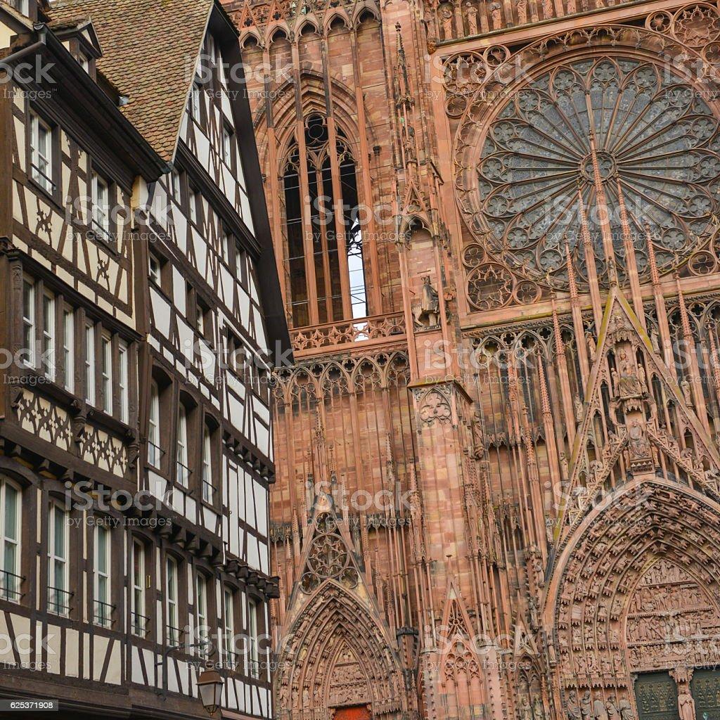 Architecte Bas Rhin cathedral notre dame of strasbourg bas rhin alsace stock