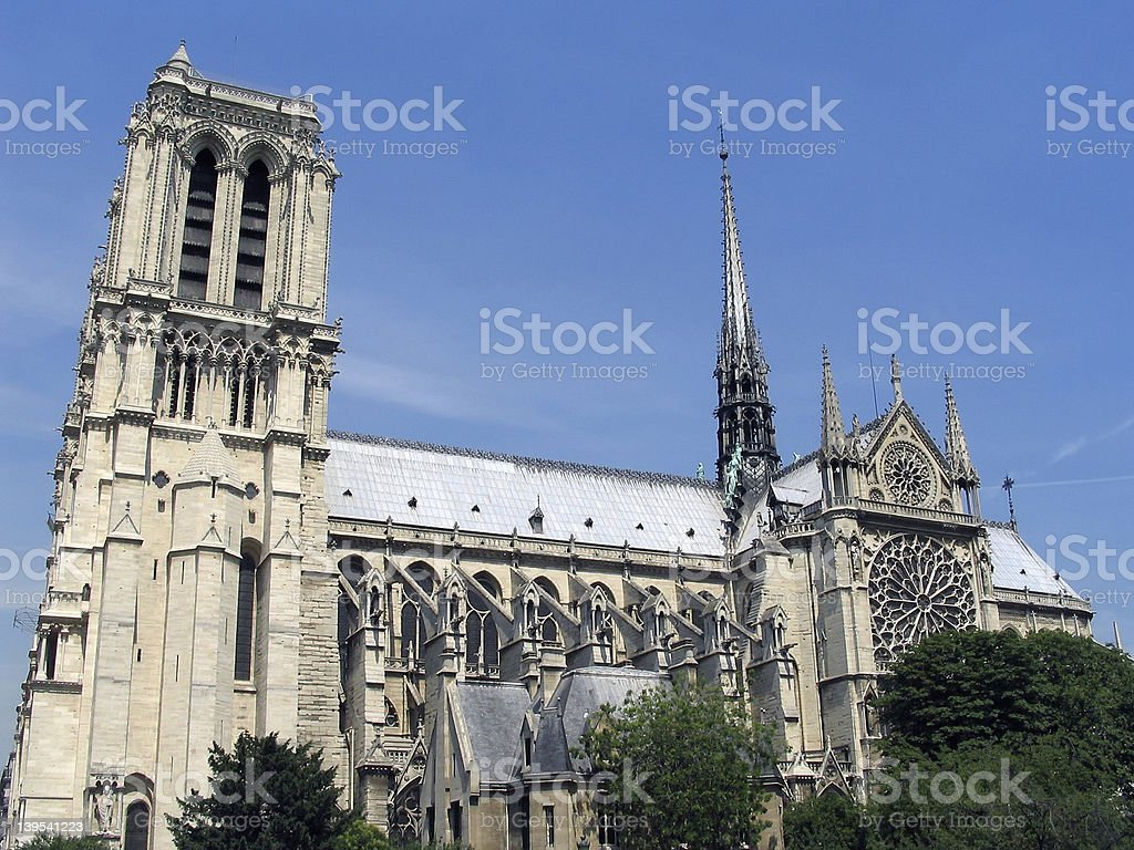 Cathedral Notre Dame royalty-free stock photo