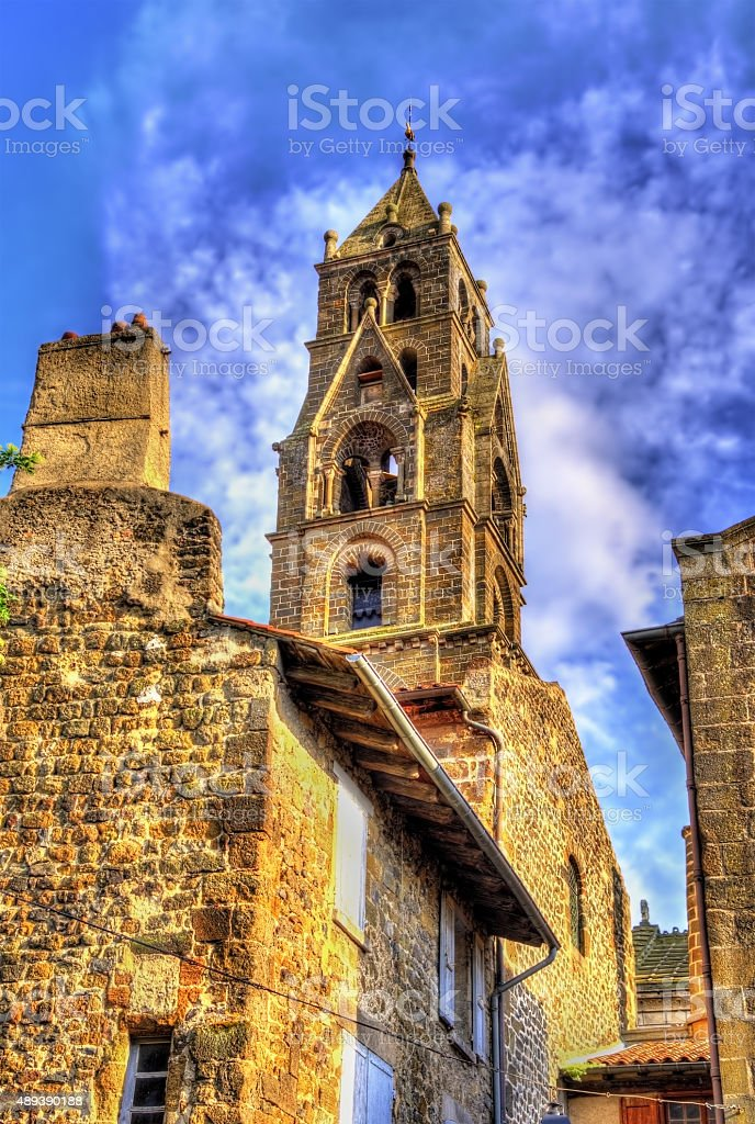 Cathedral Notre-Dame of Le Puy-en-Velay - Auvergne, France stock photo
