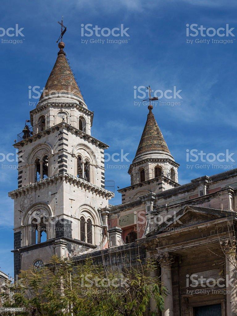 Cattedrale di Acireale in Sicilia, Italia - foto stock