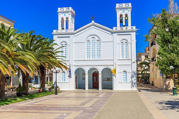 cathedral of Agios Nikolaos in Nafplion, Greece stock photo