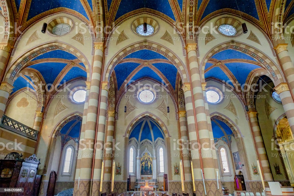 Cathedral of Alba, 15th century. Province of Cuneo, Piedmont, northern Italy stock photo