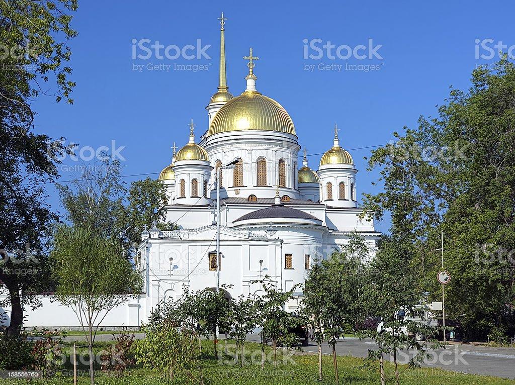 알렉산드르 네프스키 성당 에서 예까테린부르그, 러시아 royalty-free 스톡 사진