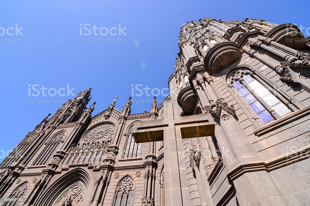 Cathedral of Arucas royalty-free stock photo