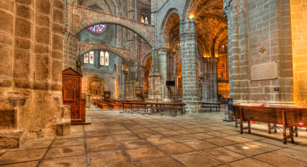 Cathedral of Avila, Spain stock photo