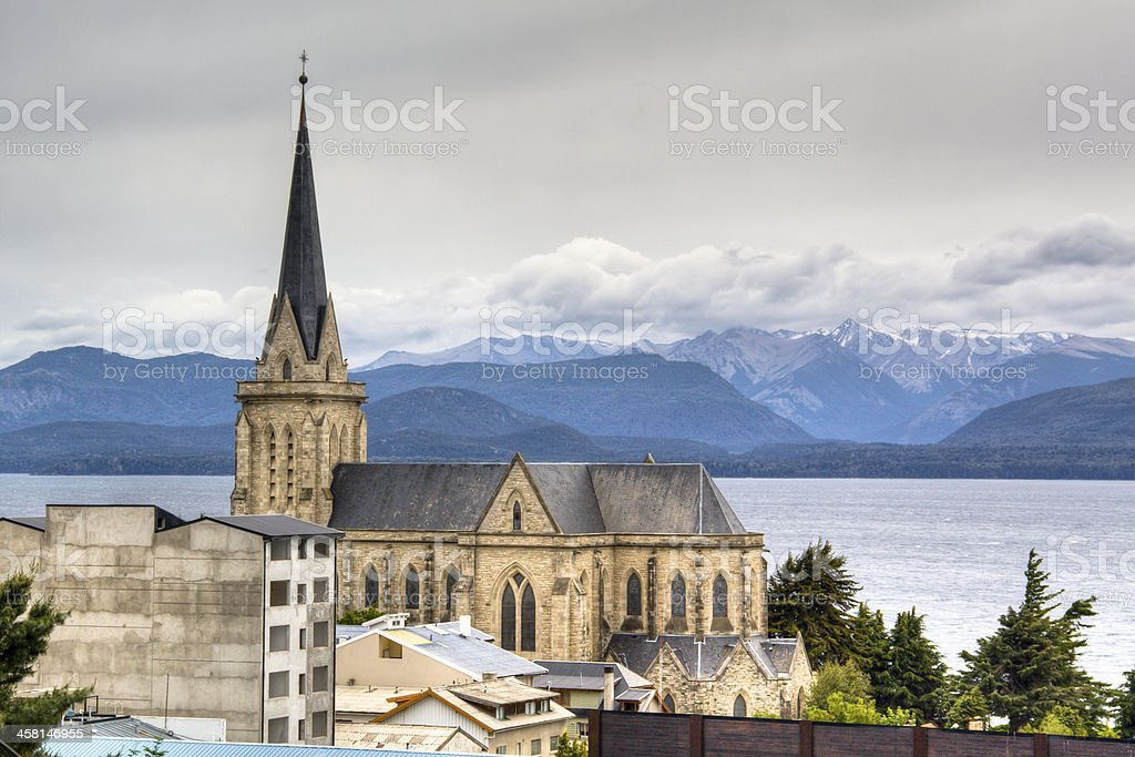 Cathedral of Bariloche, Argentina stock photo