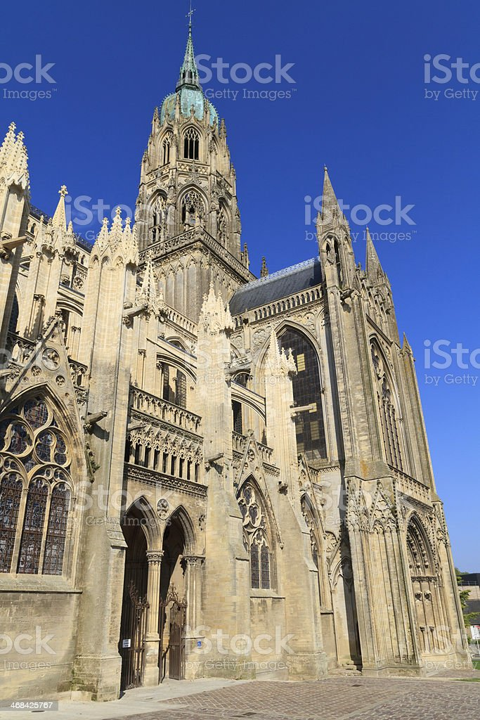 Cathedral of Bayeux, Normandy, France royalty-free stock photo