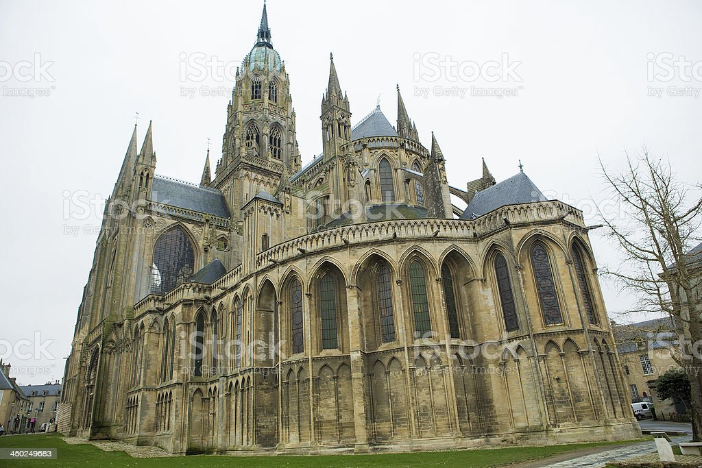 Cathedral of Bayeux royalty-free stock photo