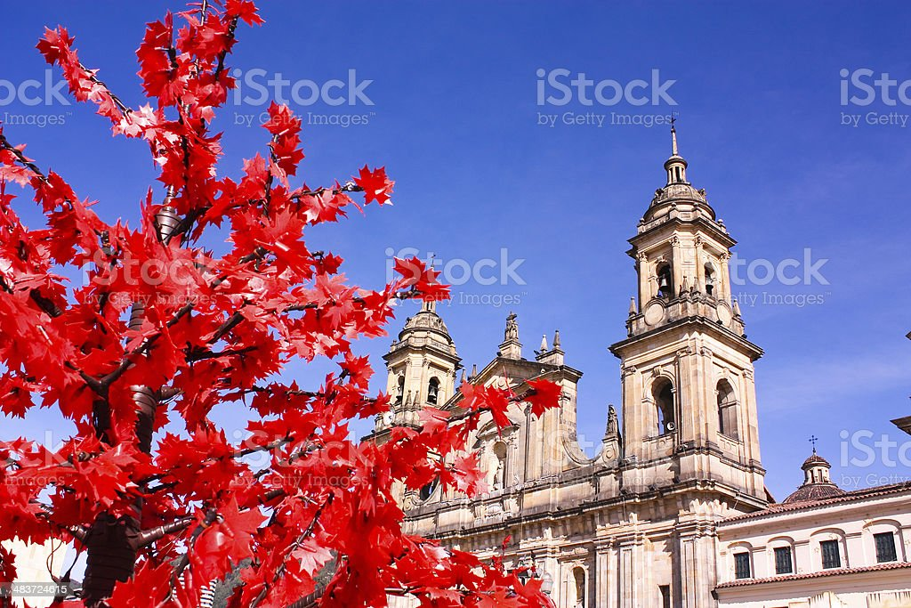 Cathedral of Bogota, Colombia stock photo