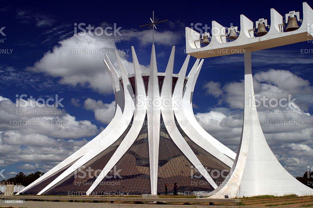 Catedral de Brasília, Brasil foto royalty-free