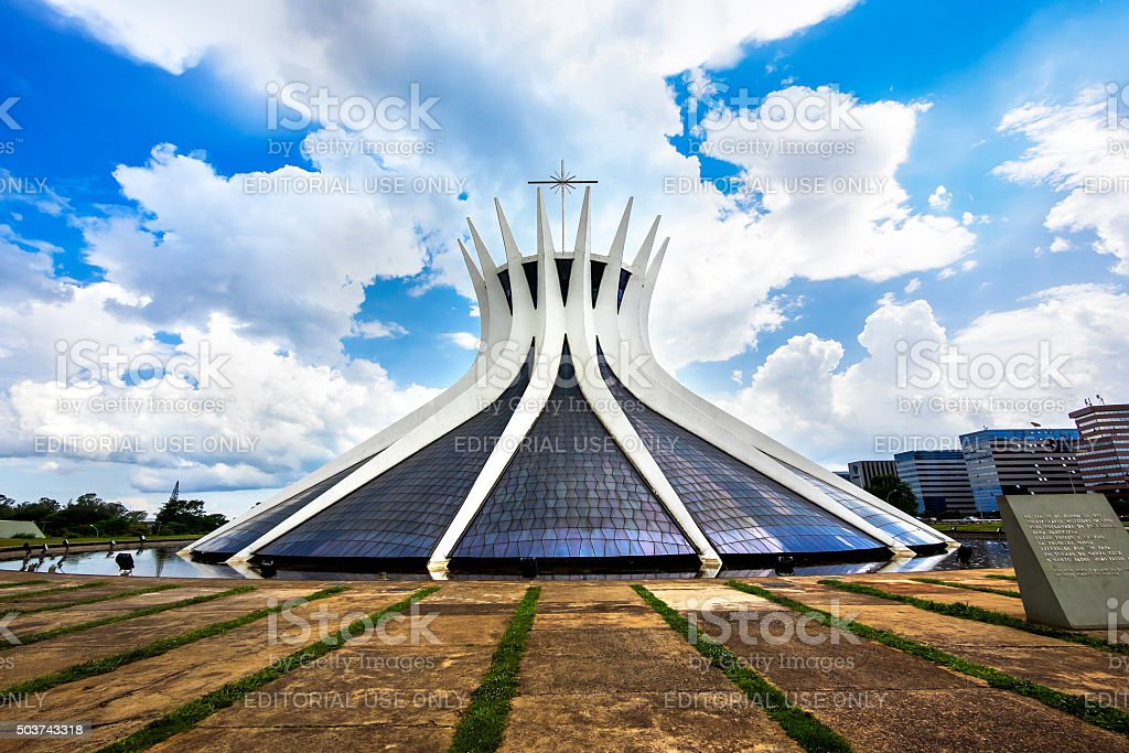 Cathedral of Brasilia, Brazil stock photo