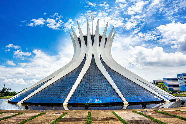 catedral de brasília, a capital do brasil - catedral - fotografias e filmes do acervo