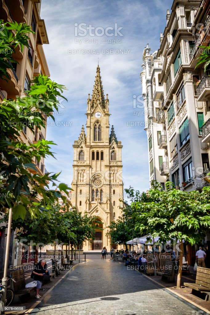 Cathedral of Buen Pastor, San Sebastian, Basque Country, Spain stock photo