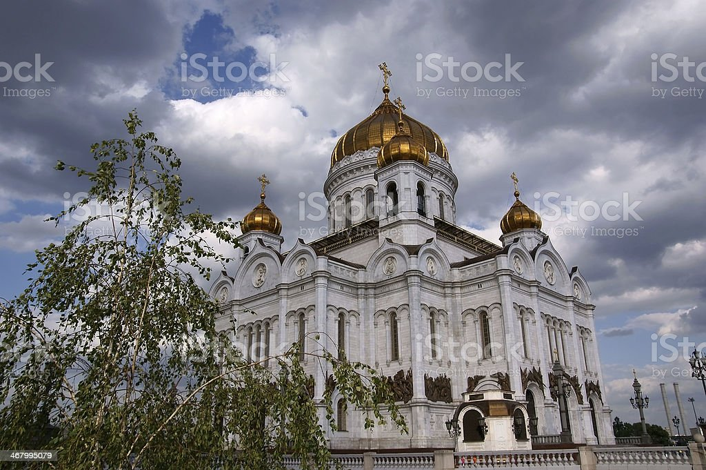 Cathedral of Christ the Saviour  in Moscow, Russia. stock photo