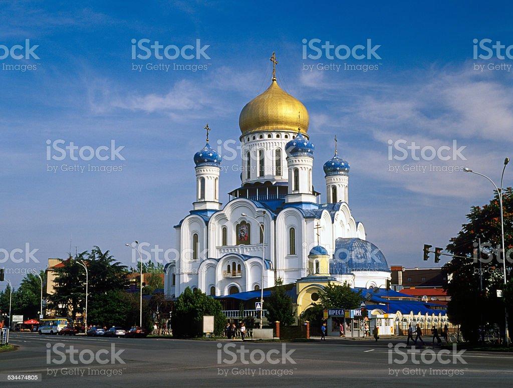 Cathedral of Christ the Saviour in Uzhhorod, Ukraine. stock photo