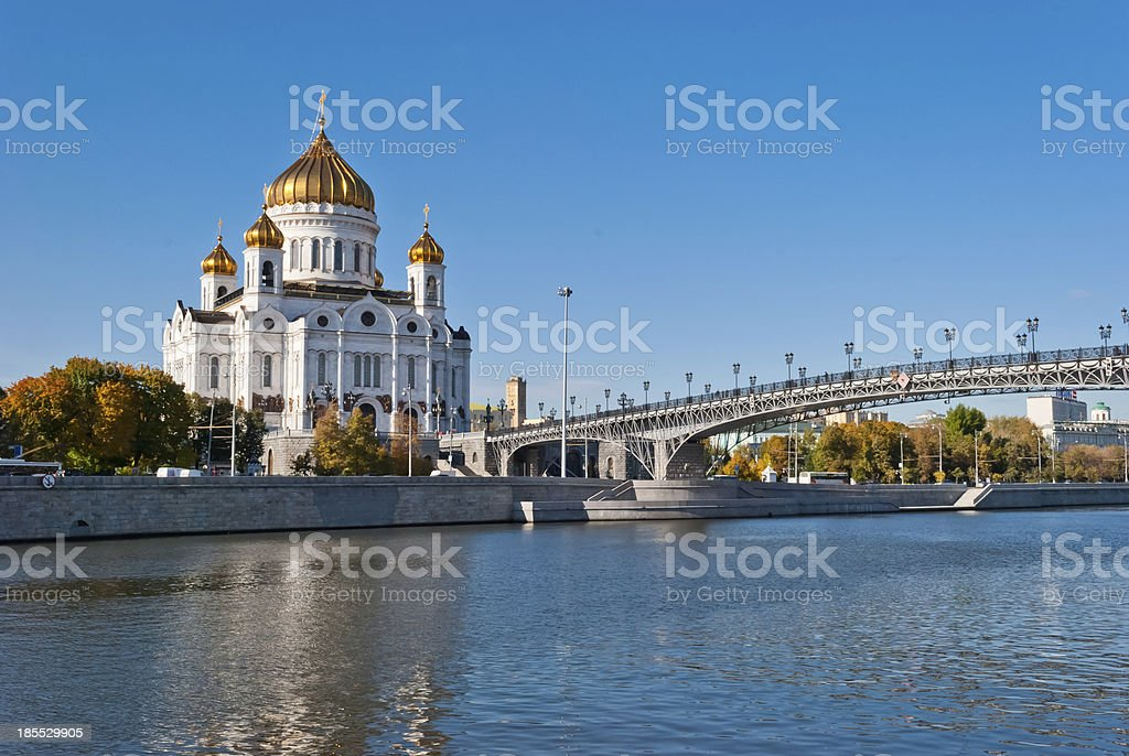 Cathedral of Christ the Saviour, Moscow, Russia stock photo