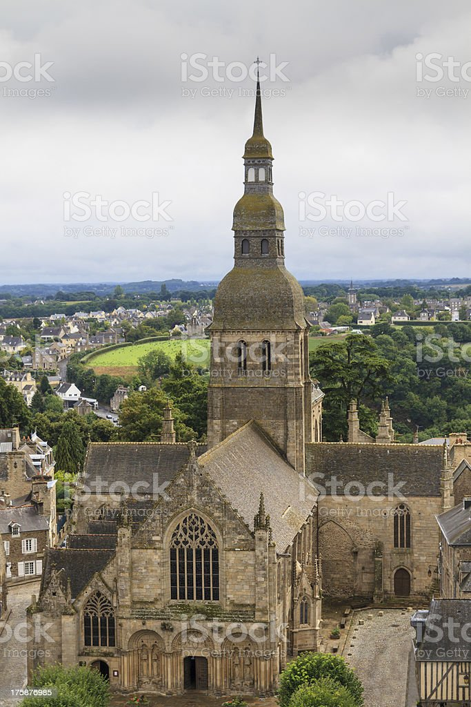 Cathedral of Dinan, Brittany, France stock photo