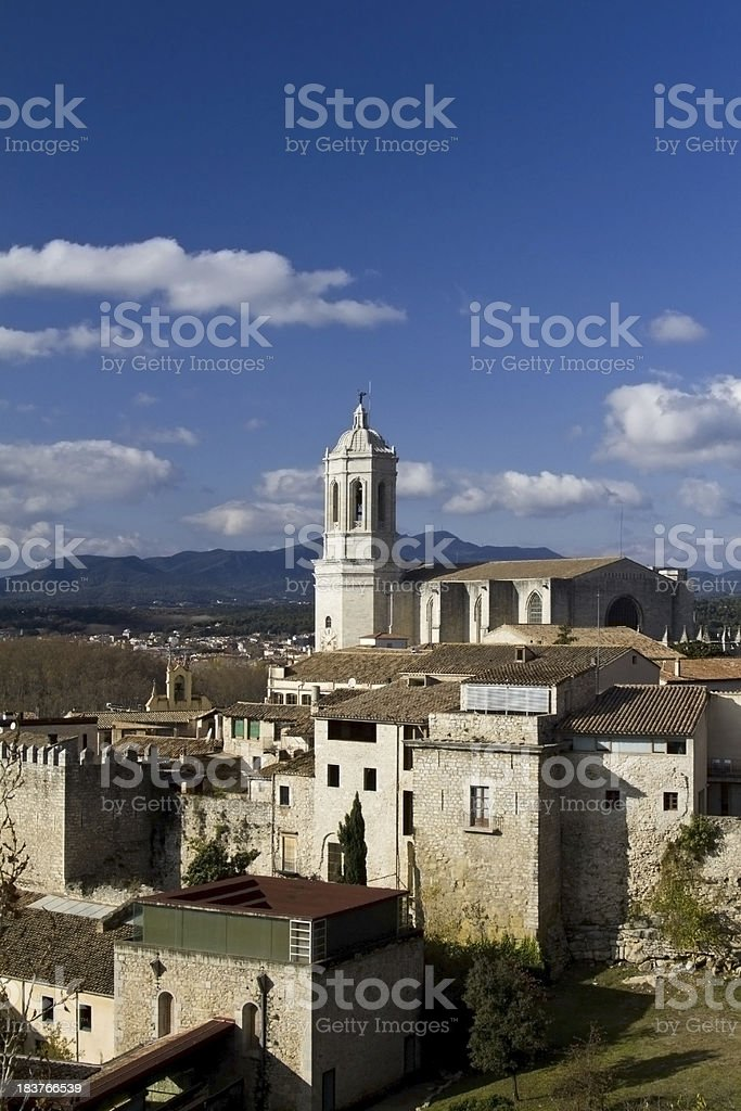 Cathedral of Girona stock photo