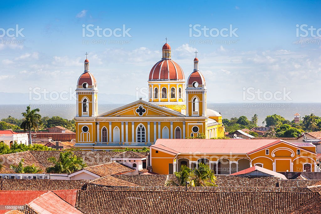 Cathedral of Granada, Nicaragua stock photo