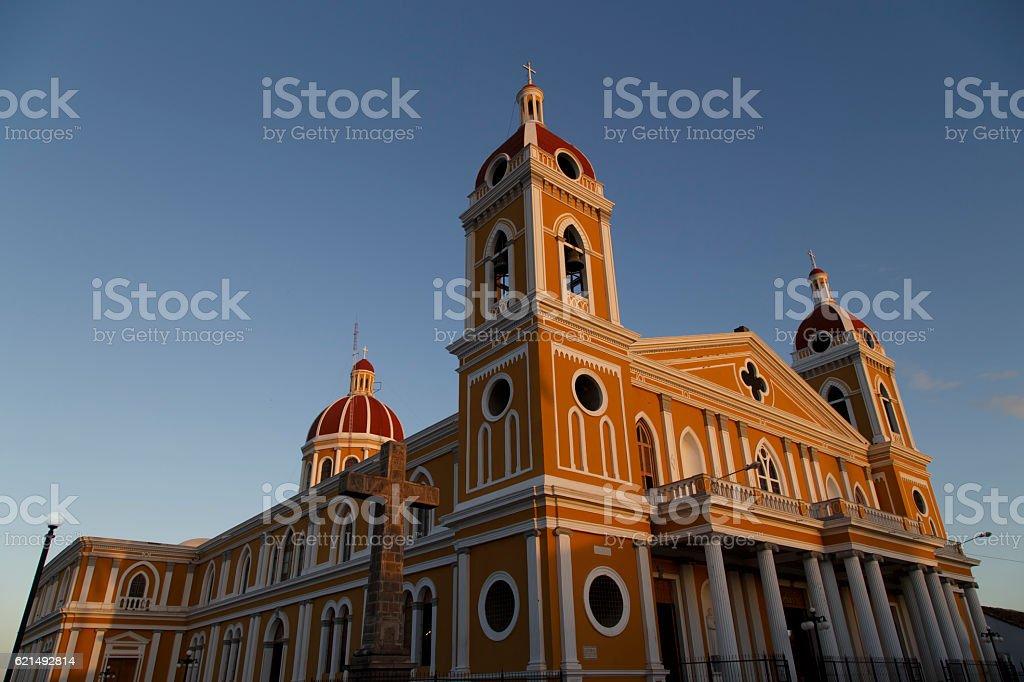 Cathédrale de Grenade et à l'extérieur, vue, Nicaragua, l'Amérique centrale. photo libre de droits