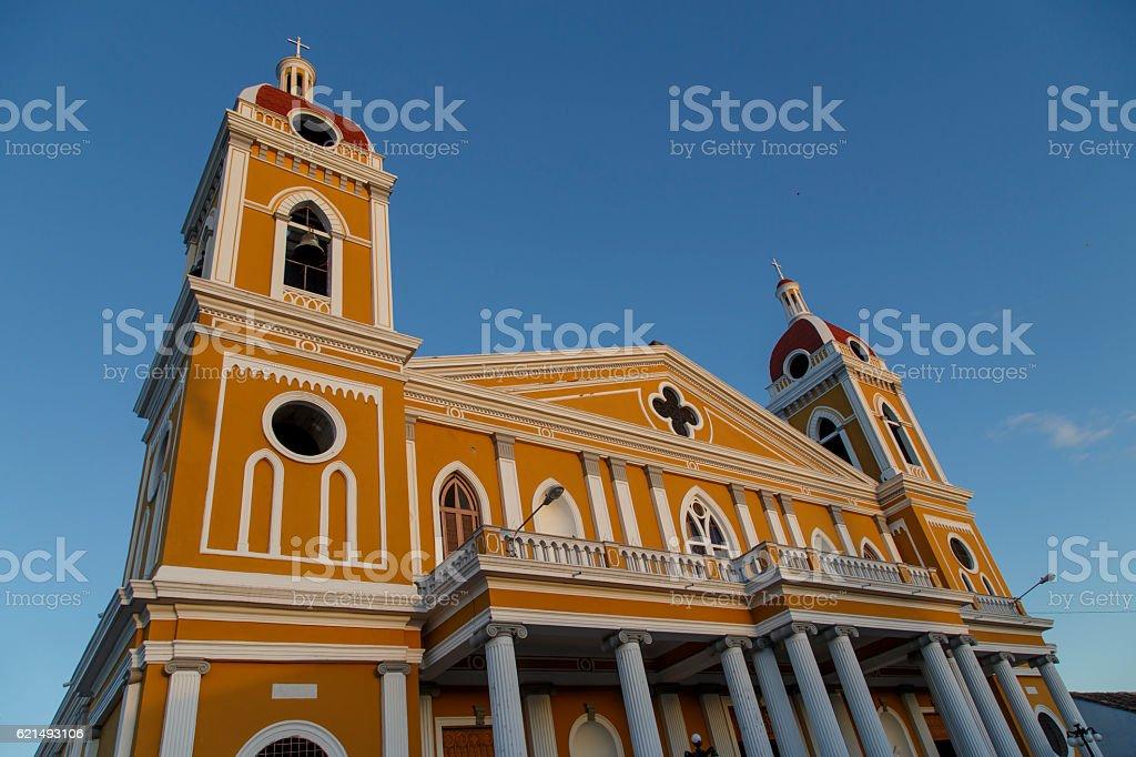 Cattedrale di Granada, all'aperto vista, Nicaragua, America centrale. foto stock royalty-free
