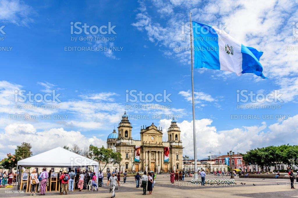Catedral de ciudad de Guatemala en la Plaza de la Constitución, Guatemala ciudad, Guatemala - foto de stock