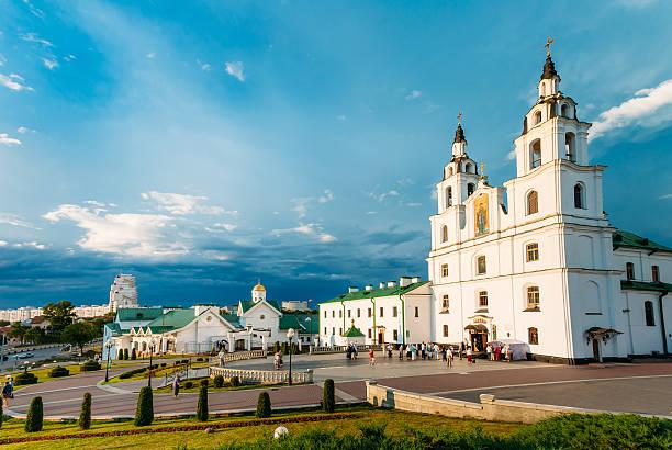 katedra ducha świętego mińsk - główny kościół prawosławny białoruś - białoruś zdjęcia i obrazy z banku zdjęć