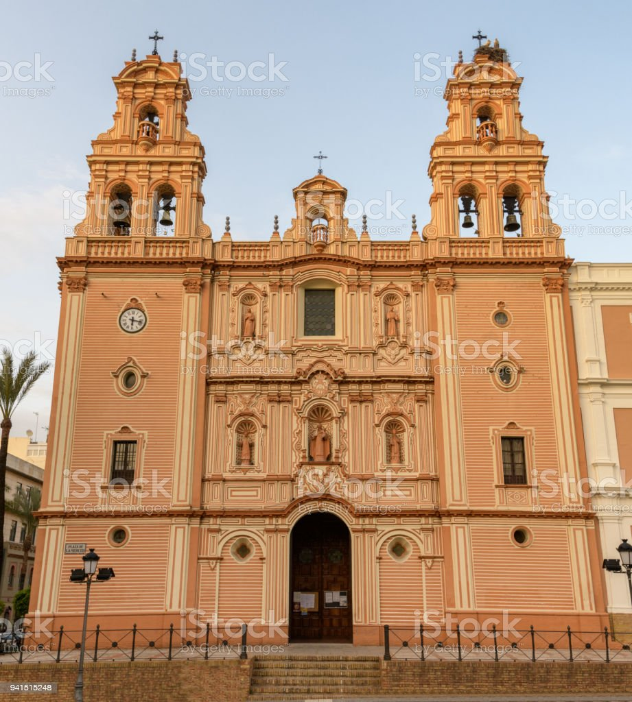 Cathedral of Huelva in Andalusia, Southern Spain. stock photo