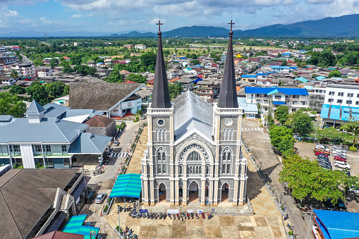 Cathedral of Immaculate Conception in Chanthaburi, Thailand, south east asia