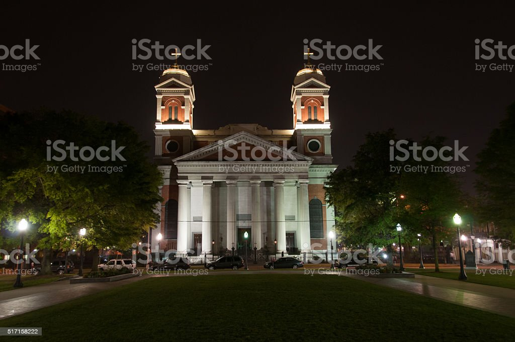 Cathedral of Immaculate Conception, Mobile Alabama stock photo