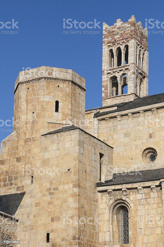 Cathedral of La Seu de Urgell stock photo