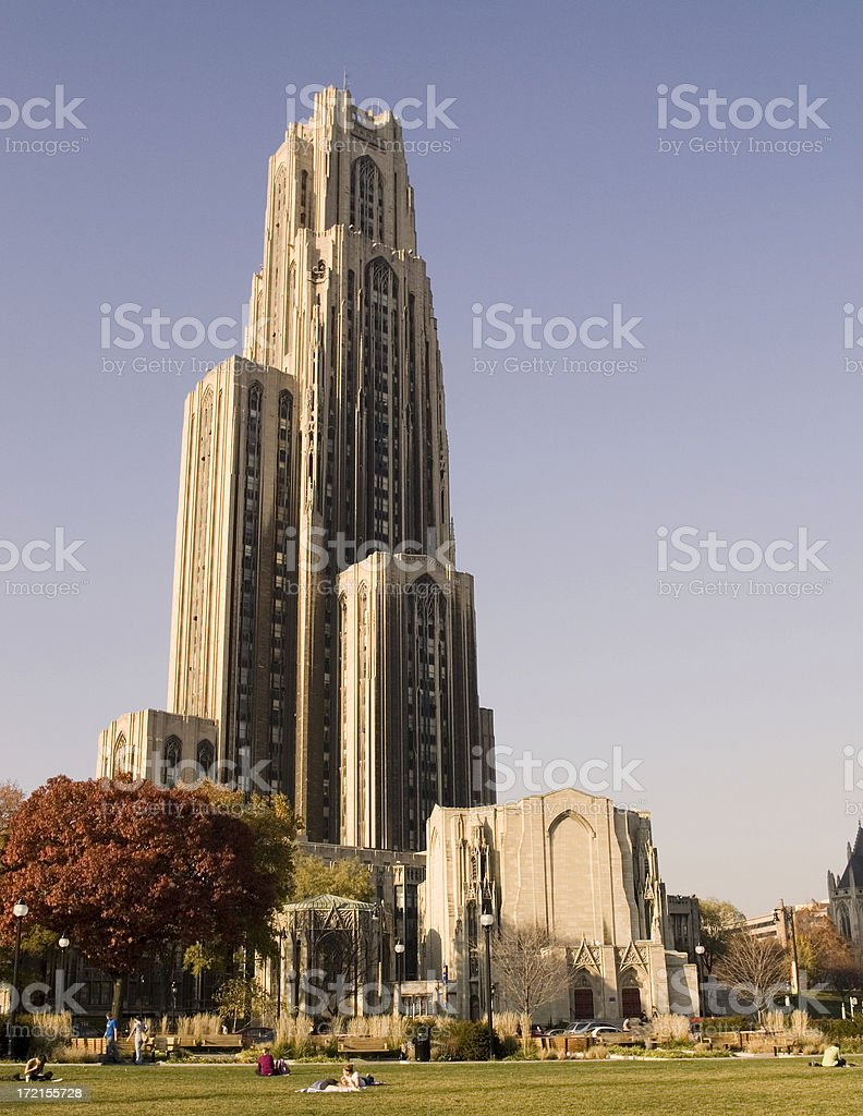 Cathedral of Learning. stock photo