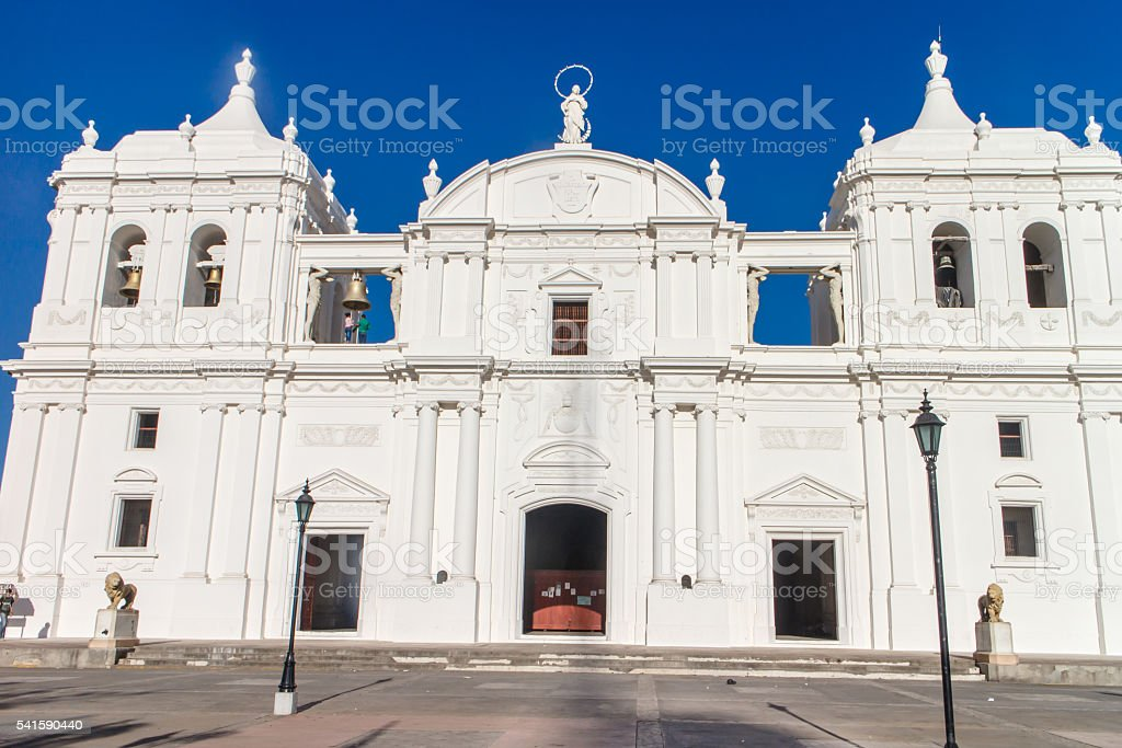 cathedral of leon nicaragua stock photo