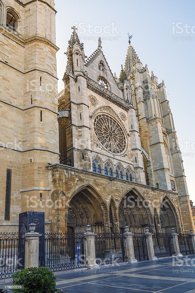 cathedral of Leon royalty-free stock photo