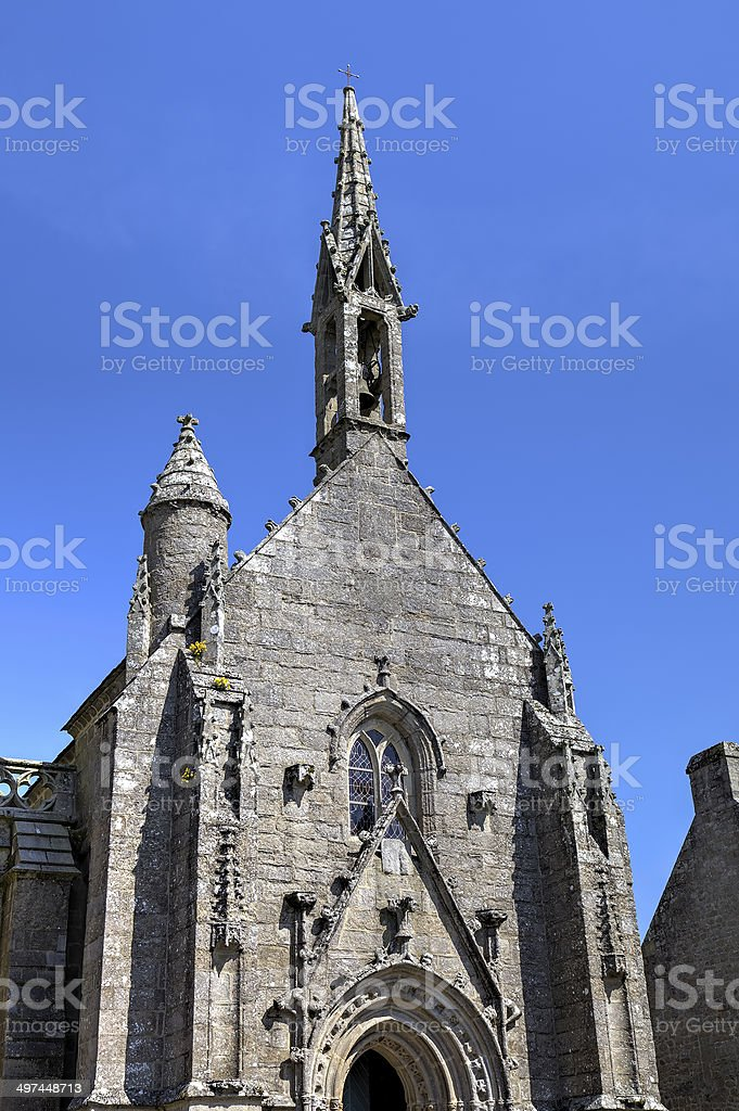 Cathedral of Locronan. France stock photo