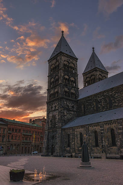 cathedral of lund - lund stock photos and pictures