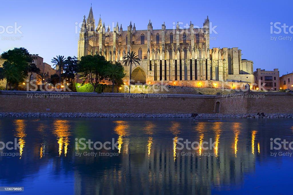 Cathedral of Majorca in Palma de Mallorca Balearic Islands royalty-free stock photo