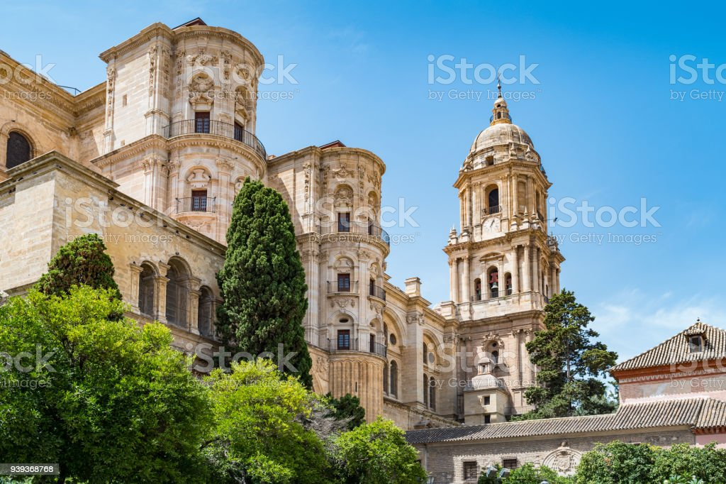 Cathedral of Malaga Andalusia Spain stock photo
