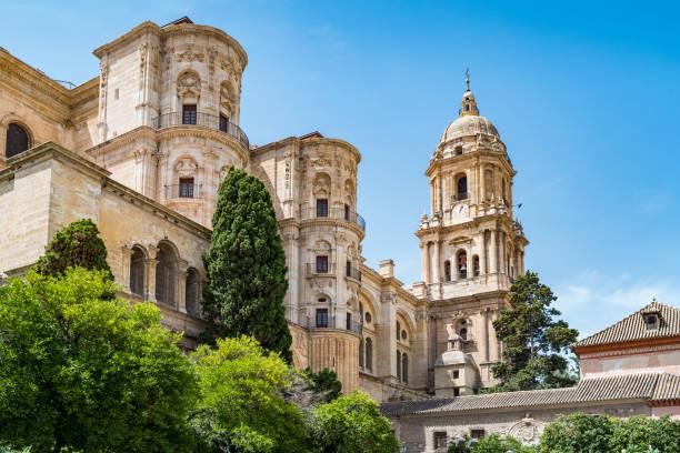 katedralen i malaga andalucien spanien - katedral bildbanksfoton och bilder