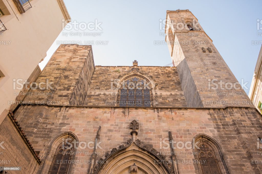 Cathedral of Martyrs Just and Pastor in Barcelona stock photo