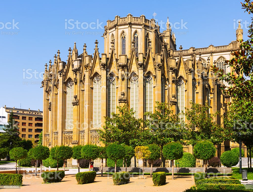 Cathedral of Mary Immaculate. Vitoria-Gasteiz, Spain stock photo